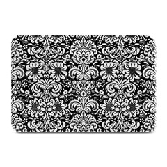 Damask2 Black Marble & White Leather (r) Plate Mats