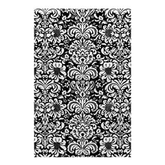 Damask2 Black Marble & White Leather (r) Shower Curtain 48  X 72  (small)