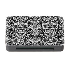 Damask2 Black Marble & White Leather (r) Memory Card Reader With Cf