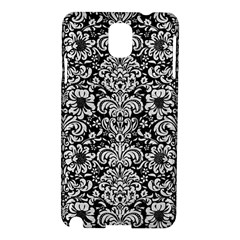 Damask2 Black Marble & White Leather (r) Samsung Galaxy Note 3 N9005 Hardshell Case