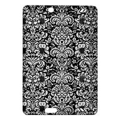 Damask2 Black Marble & White Leather (r) Amazon Kindle Fire Hd (2013) Hardshell Case