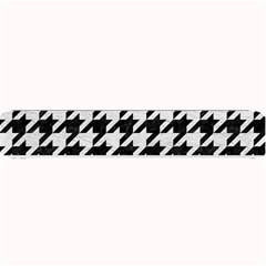 Houndstooth1 Black Marble & White Leather Small Bar Mats
