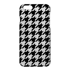 Houndstooth1 Black Marble & White Leather Apple Iphone 6 Plus/6s Plus Hardshell Case