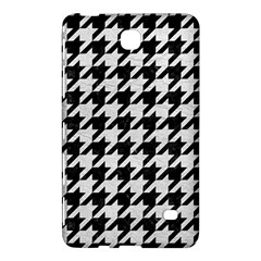 Houndstooth1 Black Marble & White Leather Samsung Galaxy Tab 4 (8 ) Hardshell Case