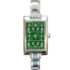 Ugly Christmas Sweater Rectangle Italian Charm Watch