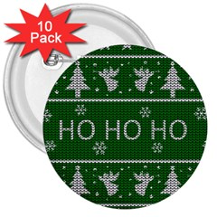 Ugly Christmas Sweater 3  Buttons (10 Pack)