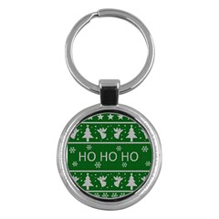 Ugly Christmas Sweater Key Chains (round)