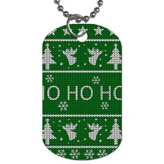 Ugly Christmas Sweater Dog Tag (two Sides)