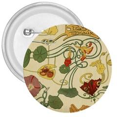 Floral Art Nouveau 3  Buttons