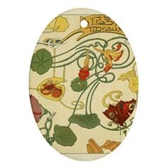 Floral Art Nouveau Ornament (oval)