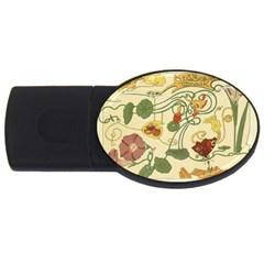Floral Art Nouveau Usb Flash Drive Oval (2 Gb)