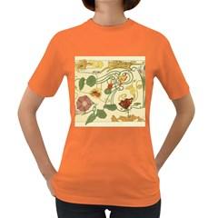 Floral Art Nouveau Women s Dark T Shirt