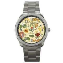 Floral Art Nouveau Sport Metal Watch