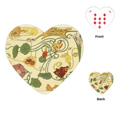 Floral Art Nouveau Playing Cards (heart)