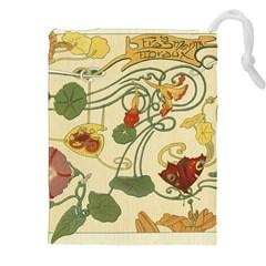 Floral Art Nouveau Drawstring Pouches (xxl)
