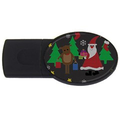 Ugly Christmas Sweater Usb Flash Drive Oval (4 Gb)