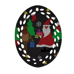 Ugly Christmas Sweater Ornament (oval Filigree)