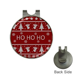 Ugly Christmas Sweater Hat Clips With Golf Markers