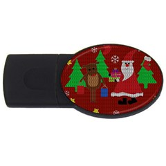Ugly Christmas Sweater Usb Flash Drive Oval (2 Gb)
