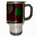 Ugly Christmas Sweater Travel Mug (Silver Gray) Right