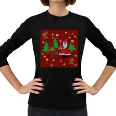 Ugly Christmas Sweater Women s Long Sleeve Dark T Shirts