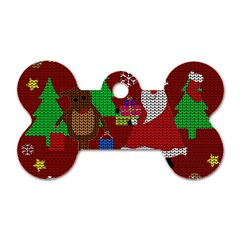 Ugly Christmas Sweater Dog Tag Bone (one Side)