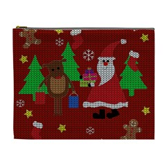 Ugly Christmas Sweater Cosmetic Bag (xl)
