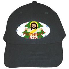Jesus   Christmas Black Cap