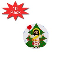 Jesus   Christmas 1  Mini Buttons (10 Pack)