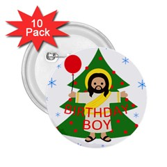 Jesus   Christmas 2 25  Buttons (10 Pack)