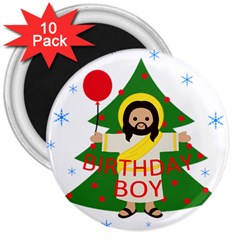 Jesus   Christmas 3  Magnets (10 Pack)