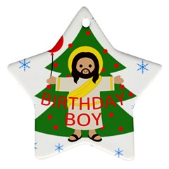 Jesus   Christmas Star Ornament (two Sides)