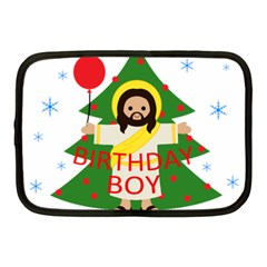 Jesus   Christmas Netbook Case (medium)
