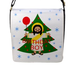 Jesus   Christmas Flap Messenger Bag (l)