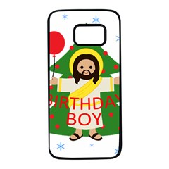 Jesus   Christmas Samsung Galaxy S7 Black Seamless Case