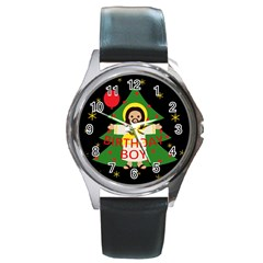 Jesus   Christmas Round Metal Watch