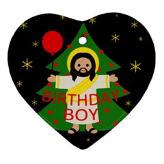 Jesus   Christmas Ornament (heart)