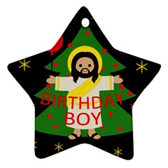 Jesus   Christmas Ornament (star)