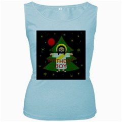Jesus   Christmas Women s Baby Blue Tank Top