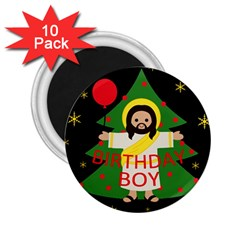 Jesus   Christmas 2 25  Magnets (10 Pack)