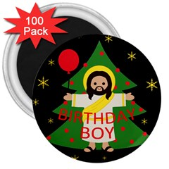 Jesus   Christmas 3  Magnets (100 Pack)
