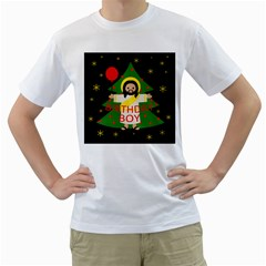 Jesus   Christmas Men s T Shirt (white) (two Sided)