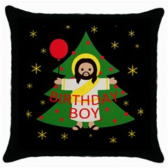 Jesus   Christmas Throw Pillow Case (black)