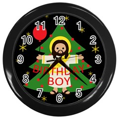 Jesus   Christmas Wall Clocks (black)