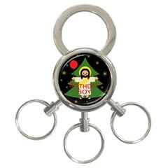 Jesus   Christmas 3 Ring Key Chains