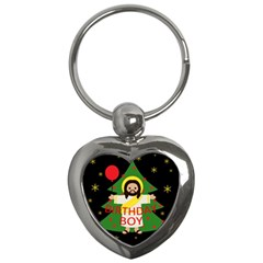 Jesus   Christmas Key Chains (heart)