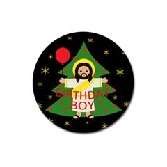 Jesus   Christmas Magnet 3  (round)