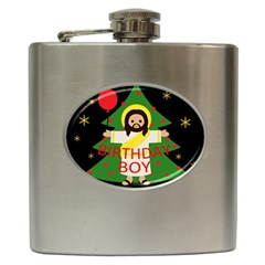 Jesus   Christmas Hip Flask (6 Oz)