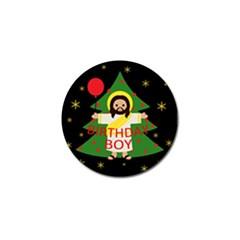 Jesus   Christmas Golf Ball Marker (4 Pack)