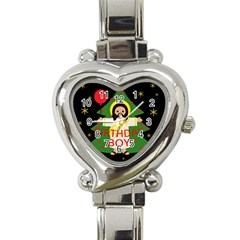 Jesus   Christmas Heart Italian Charm Watch